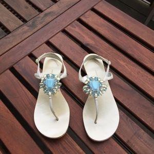 Giuseppe Zanotti Flat Thong Sandals with stones